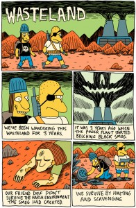 Wasteland - Simpsons' post apocalyptic webcomic by Jack Teagle - first page
