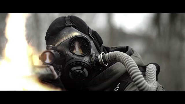 the rising - gas mask
